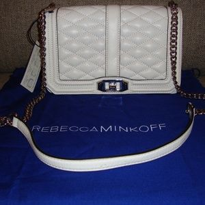 REBECCA MINKOFF QUILTED LOVE CROSSBODY LEATHER BAG